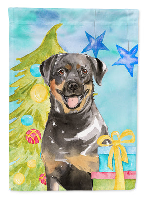 Buy this Christmas Tree Rottweiler Flag Canvas House Size CK1868CHF