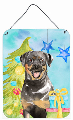 Buy this Christmas Tree Rottweiler Wall or Door Hanging Prints CK1868DS1216