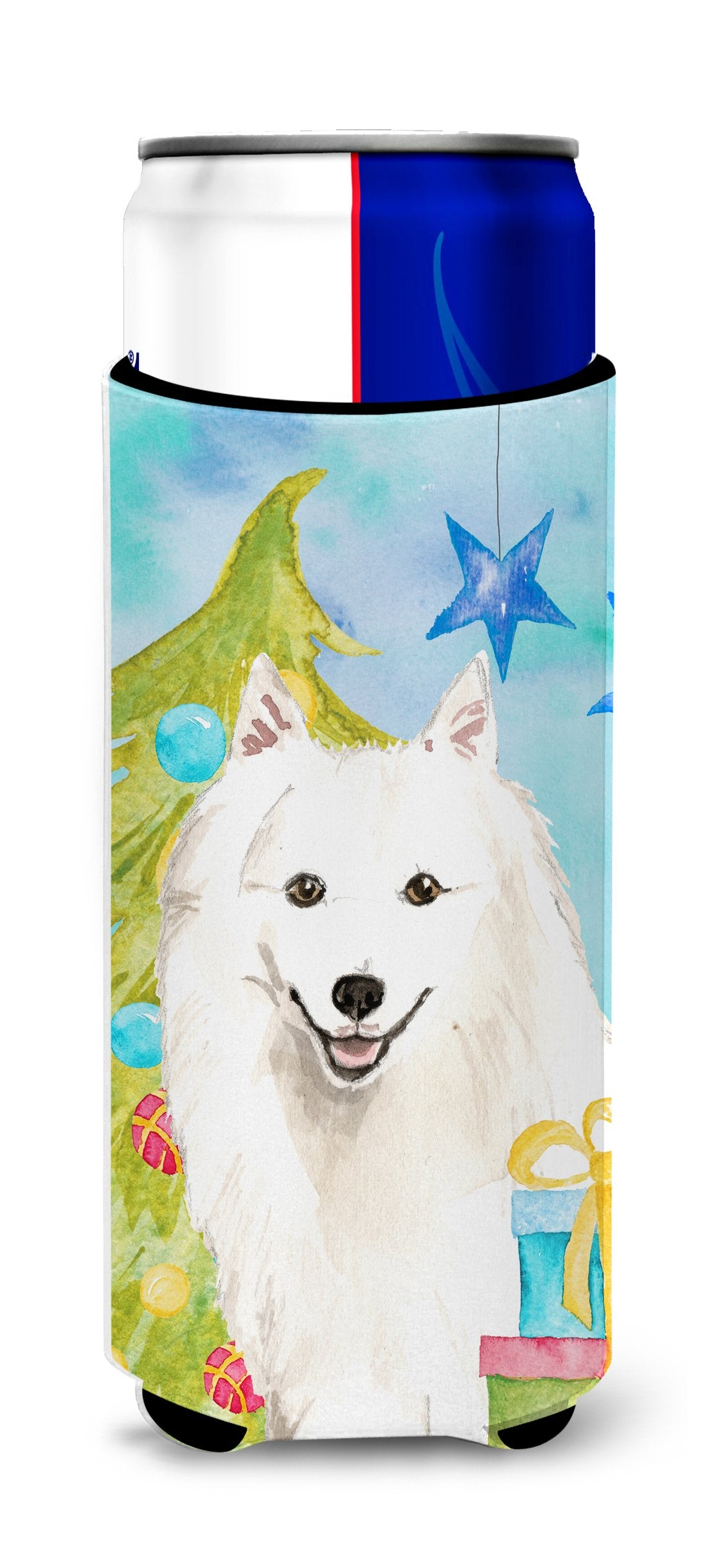 Christmas Tree Japanese Spitz Michelob Ultra Hugger for slim cans CK1875MUK by Caroline's Treasures