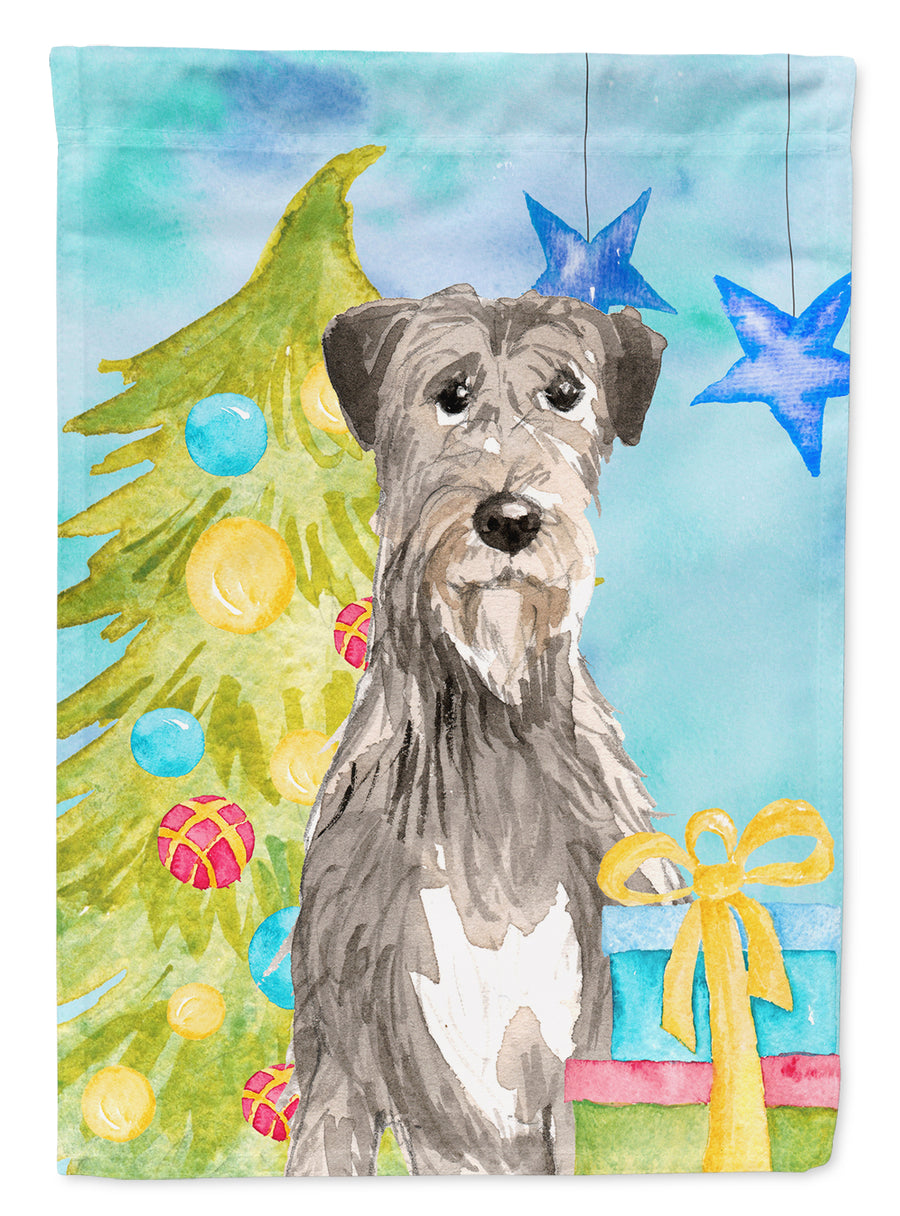 Buy this Christmas Tree Irish Wolfhound Flag Canvas House Size CK1876CHF