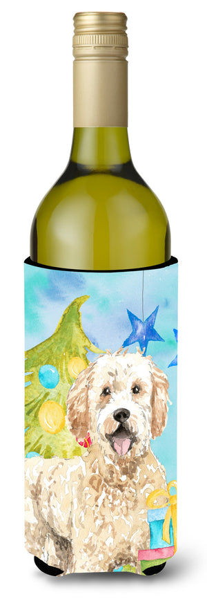 Buy this Christmas Tree Goldendoodle Wine Bottle Beverge Insulator Hugger CK1879LITERK