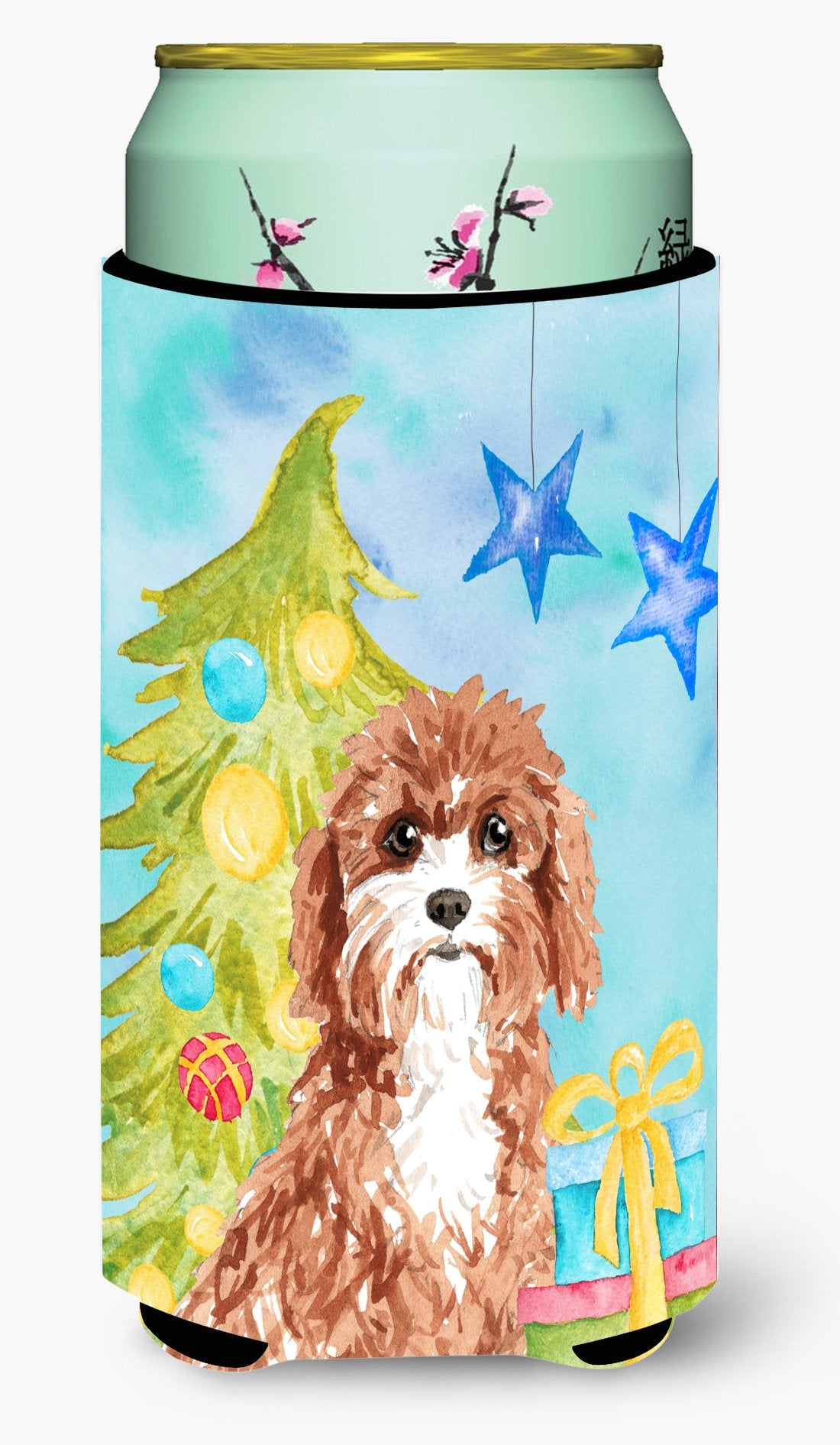 Christmas Tree Cavapoo Tall Boy Beverage Insulator Hugger CK1881TBC by Caroline's Treasures
