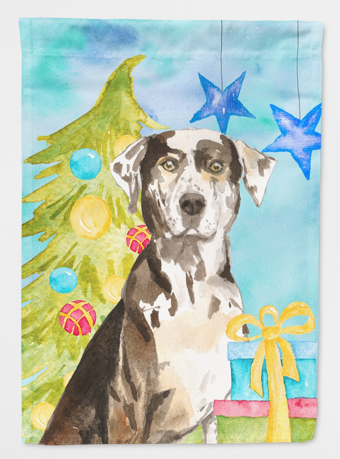 Buy this Christmas Tree Catahoula Leopard Dog Flag Garden Size CK1882GF