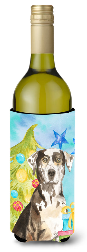 Buy this Christmas Tree Catahoula Leopard Dog Wine Bottle Beverge Insulator Hugger CK1882LITERK