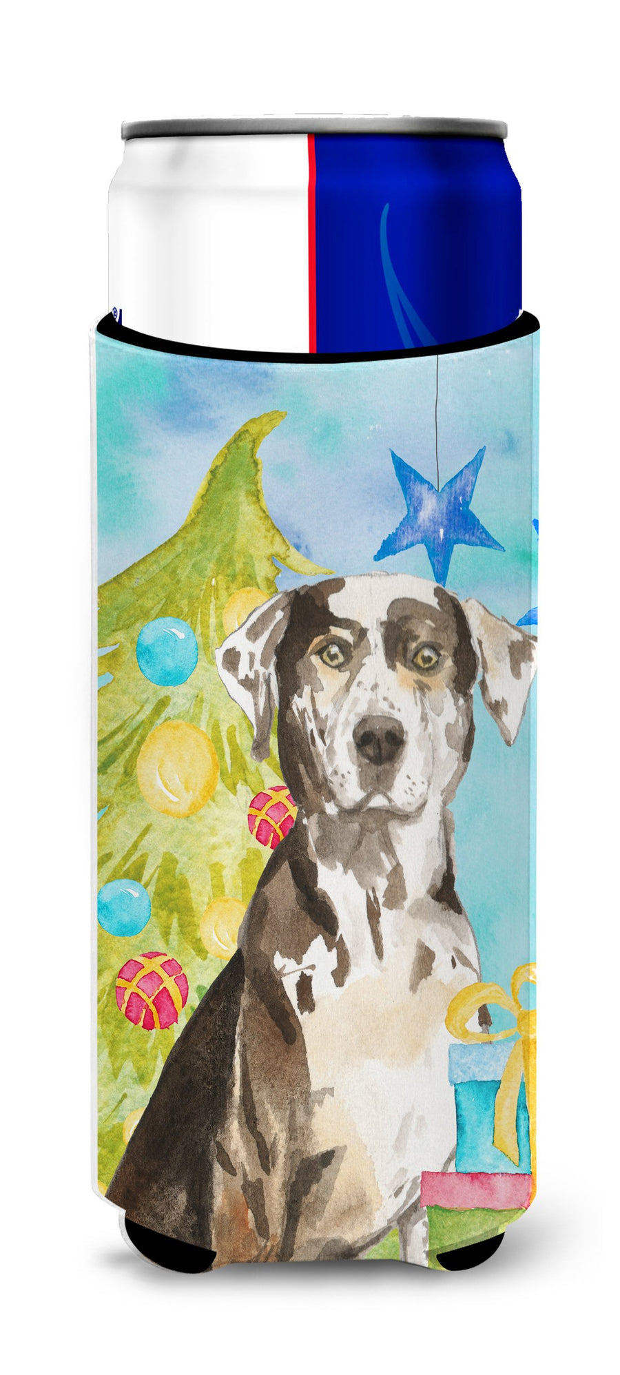 Buy this Christmas Tree Catahoula Leopard Dog Michelob Ultra Hugger for slim cans CK1882MUK