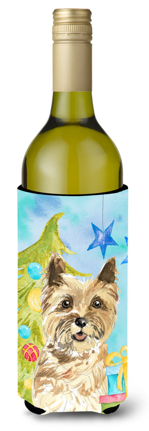 Buy this Christmas Tree Cairn Terrier Wine Bottle Beverge Insulator Hugger CK1883LITERK