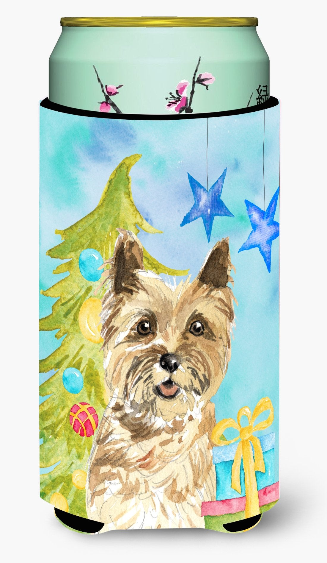 Christmas Tree Cairn Terrier Tall Boy Beverage Insulator Hugger CK1883TBC by Caroline's Treasures