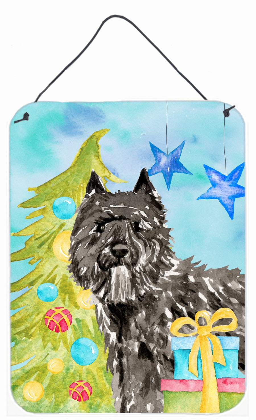 Buy this Christmas Tree Bouvier des Flandres Wall or Door Hanging Prints CK1885DS1216