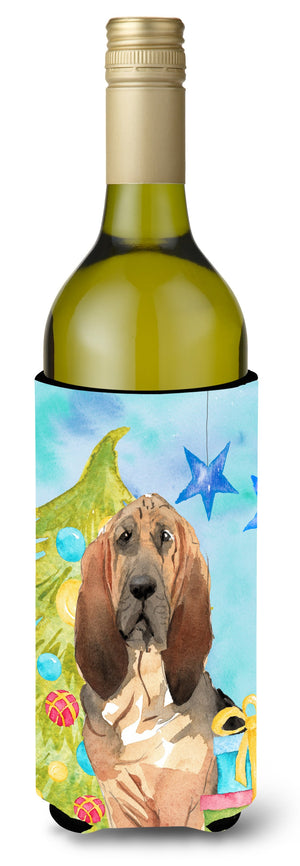 Buy this Christmas Tree Bloodhound Wine Bottle Beverge Insulator Hugger CK1887LITERK