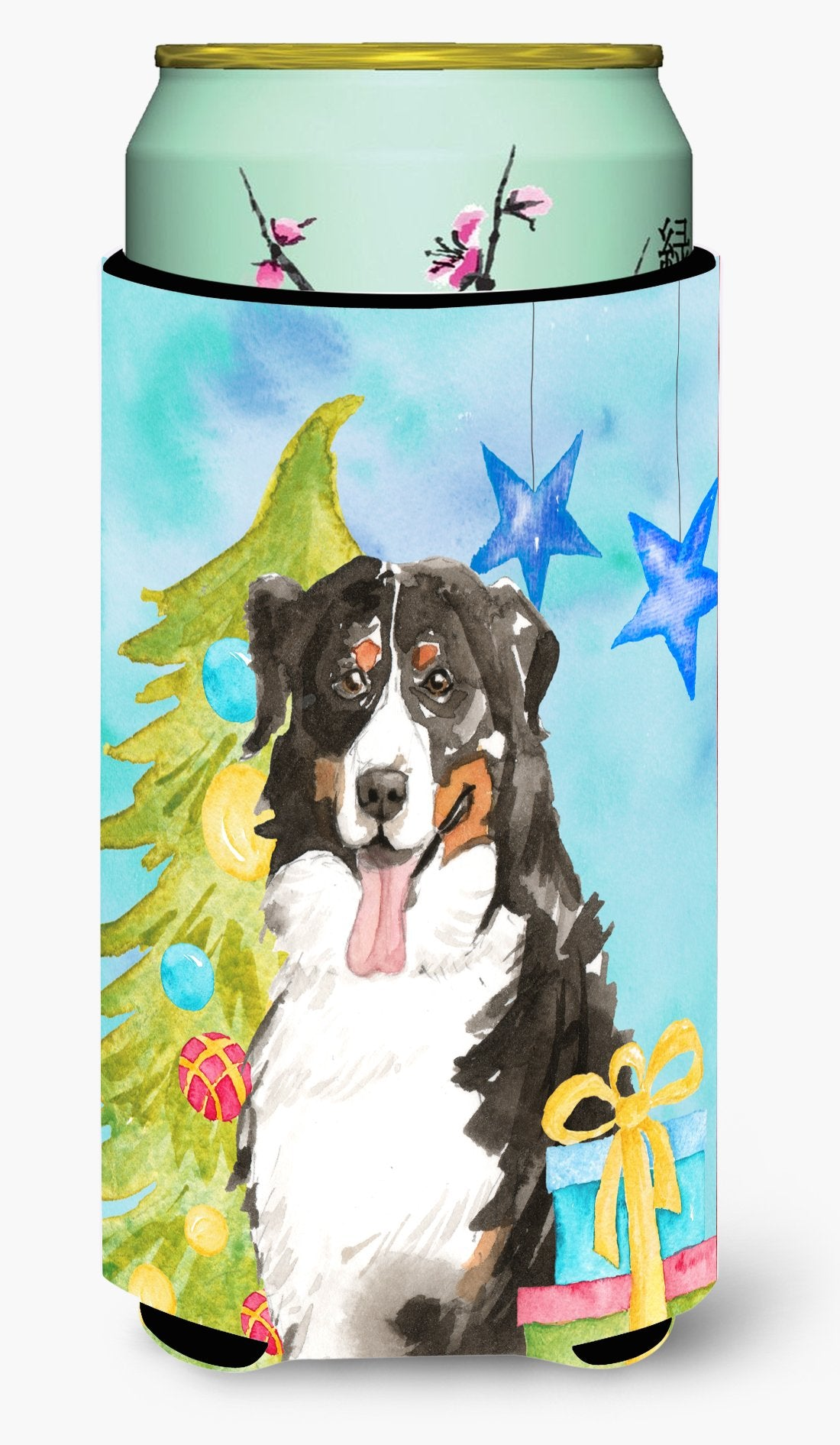 Christmas Tree Bernese Mountain Dog Tall Boy Beverage Insulator Hugger CK1889TBC by Caroline's Treasures