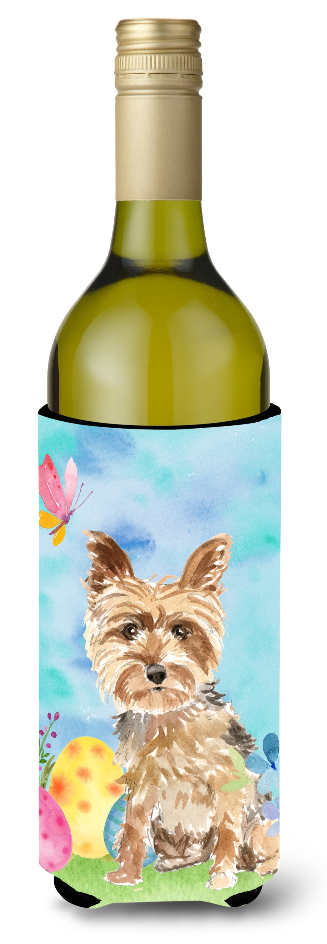 Buy this Easter Eggs Yorkie Yorkshire Terrier Wine Bottle Beverge Insulator Hugger CK1891LITERK