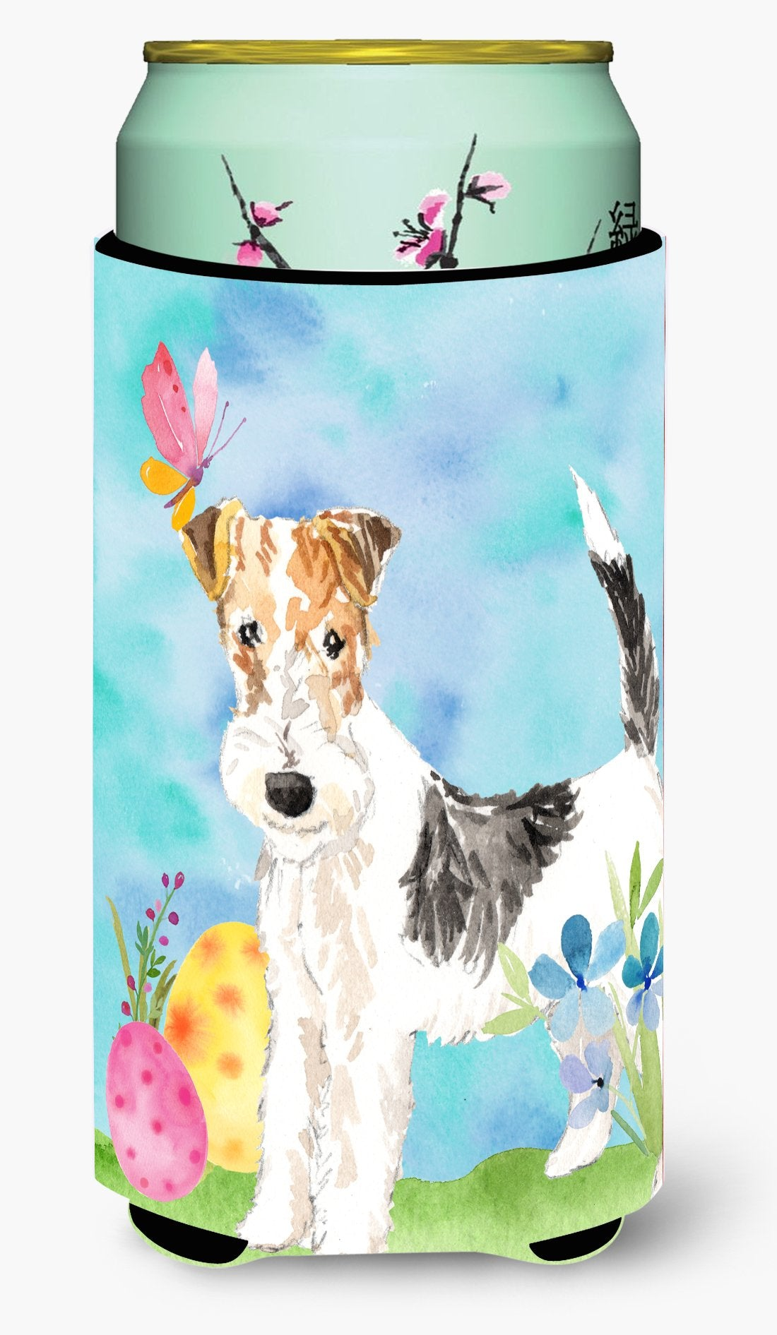 Easter Eggs Fox Terrier Tall Boy Beverage Insulator Hugger CK1892TBC by Caroline's Treasures