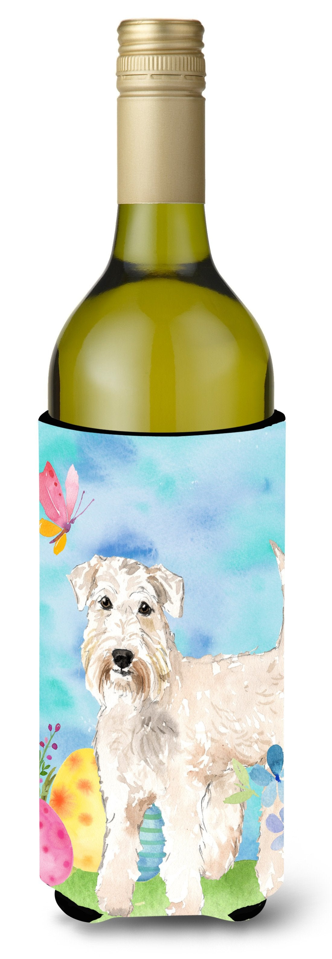 Buy this Easter Eggs Wheaten Terrier Wine Bottle Beverge Insulator Hugger CK1894LITERK