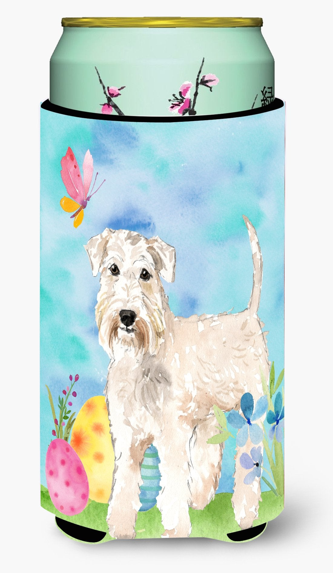 Easter Eggs Wheaten Terrier Tall Boy Beverage Insulator Hugger CK1894TBC by Caroline's Treasures