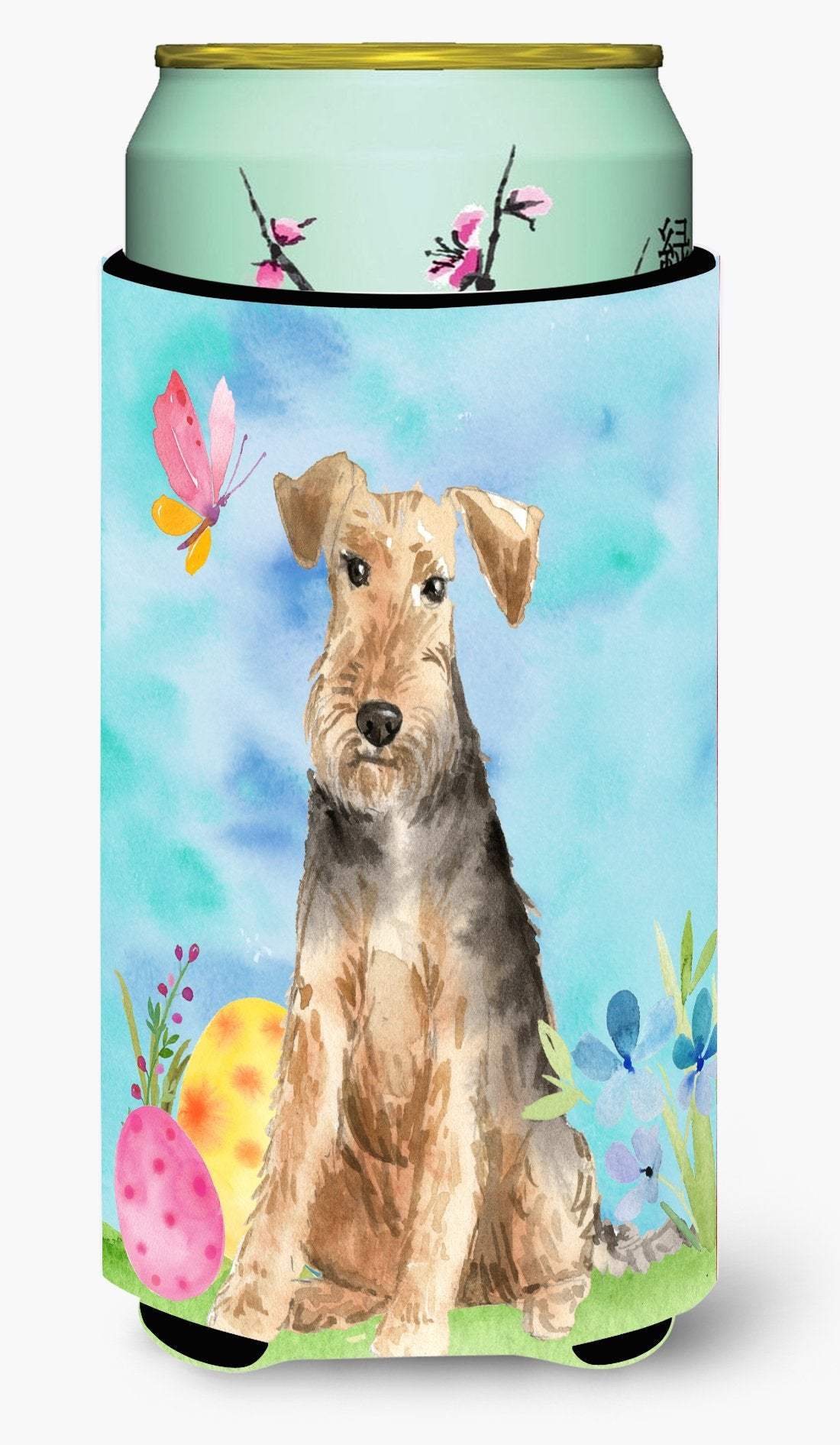 Easter Eggs Welsh Terrier Tall Boy Beverage Insulator Hugger CK1895TBC by Caroline's Treasures
