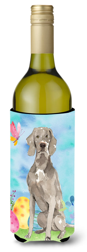 Buy this Easter Eggs Weimaraner Wine Bottle Beverge Insulator Hugger CK1896LITERK