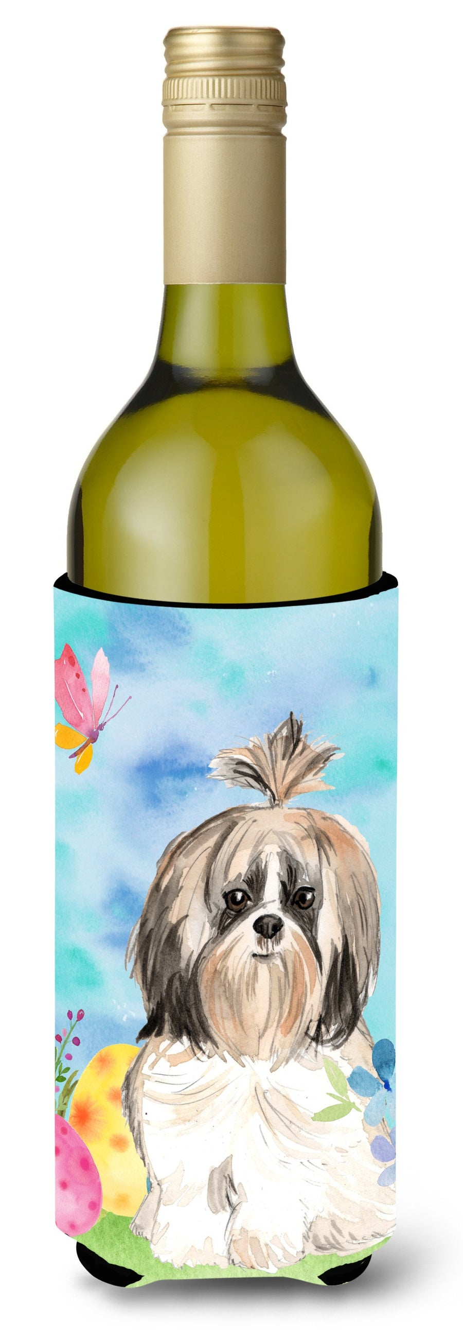 Buy this Easter Eggs Shih Tzu Wine Bottle Beverge Insulator Hugger CK1900LITERK