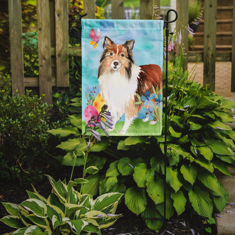 Buy this Easter Eggs Sheltie Flag Garden Size CK1901GF