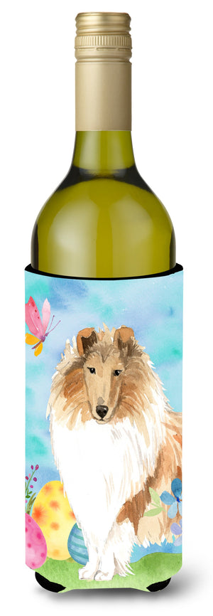 Buy this Easter Eggs Smooth Collie Wine Bottle Beverge Insulator Hugger CK1904LITERK