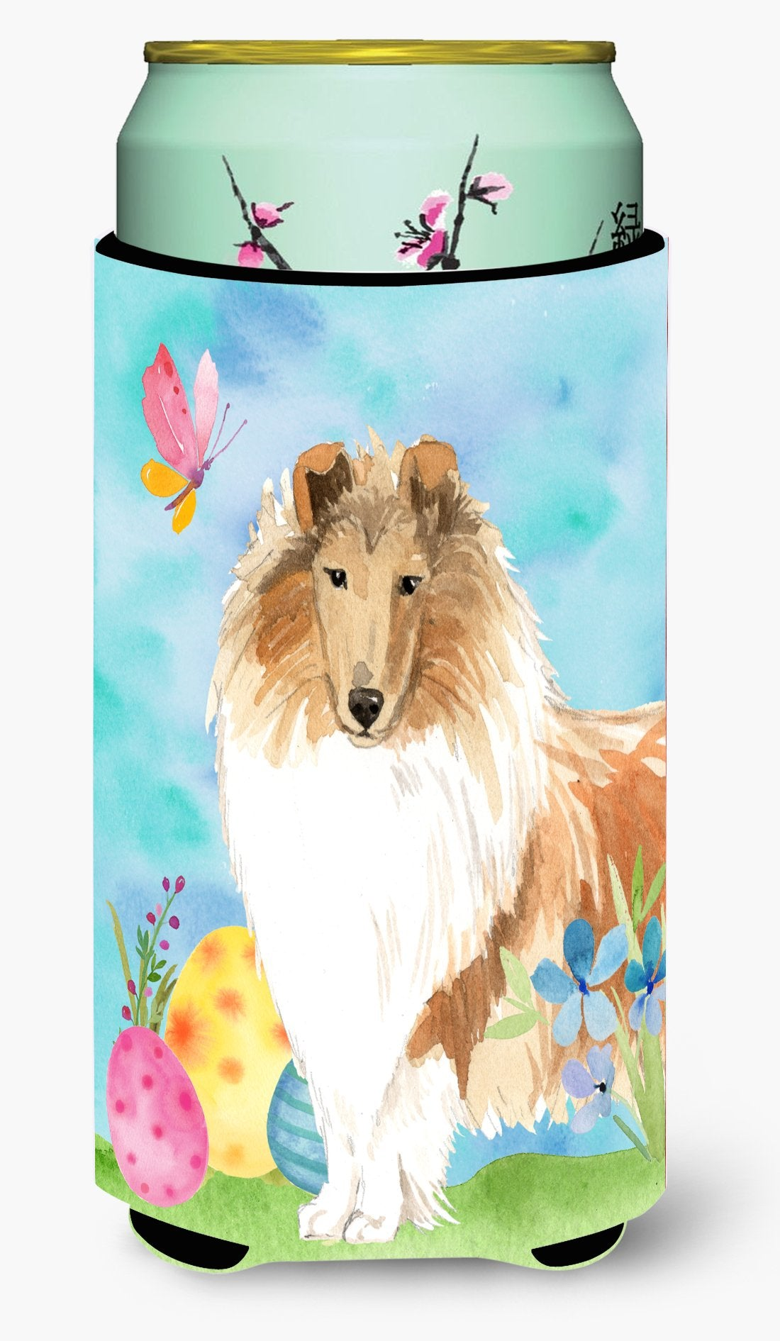 Easter Eggs Rough Collie Tall Boy Beverage Insulator Hugger CK1904TBC by Caroline's Treasures