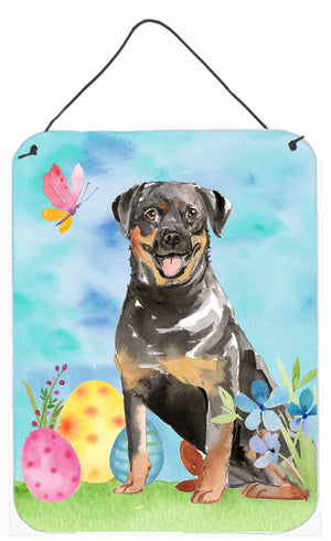 Buy this Easter Eggs Rottweiler Wall or Door Hanging Prints CK1905DS1216