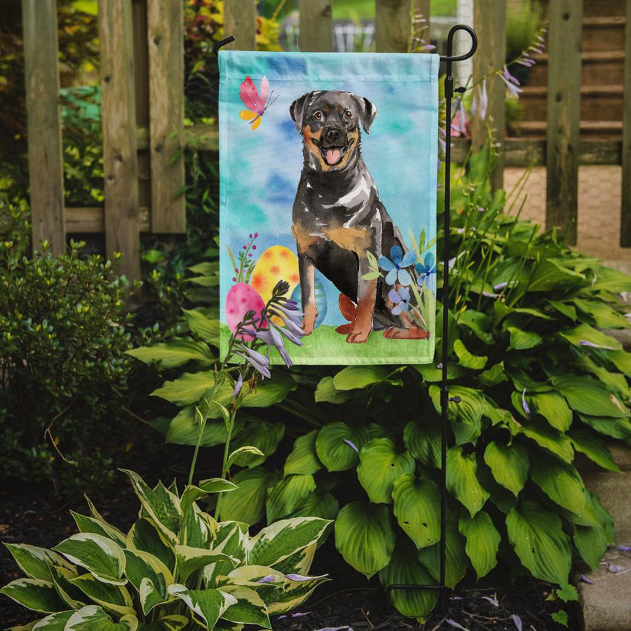 Buy this Easter Eggs Rottweiler Flag Garden Size CK1905GF