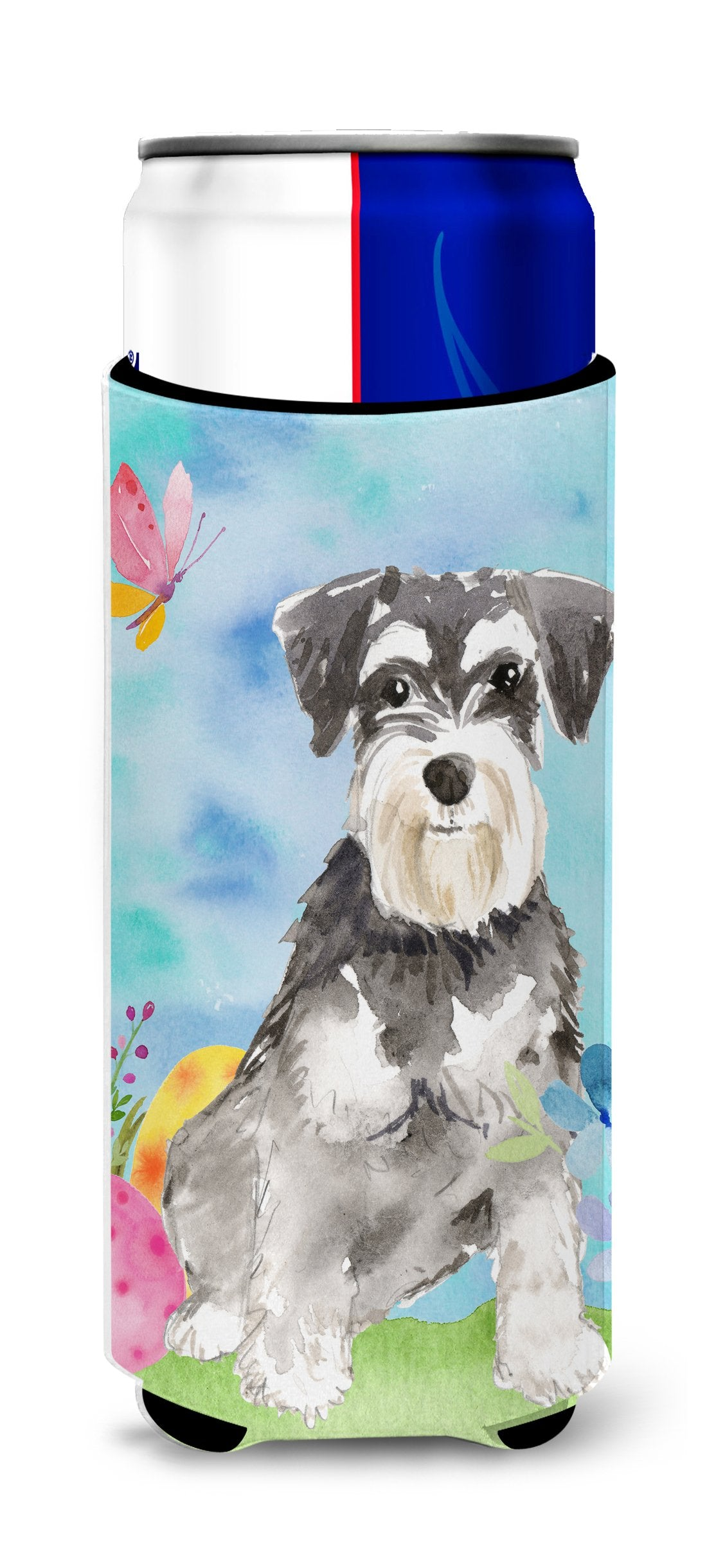 Easter Eggs Schnauzer #2 Michelob Ultra Hugger for slim cans CK1907MUK by Caroline's Treasures