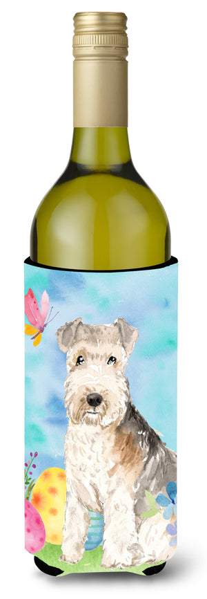 Buy this Easter Eggs Lakeland Terrier Wine Bottle Beverge Insulator Hugger CK1910LITERK