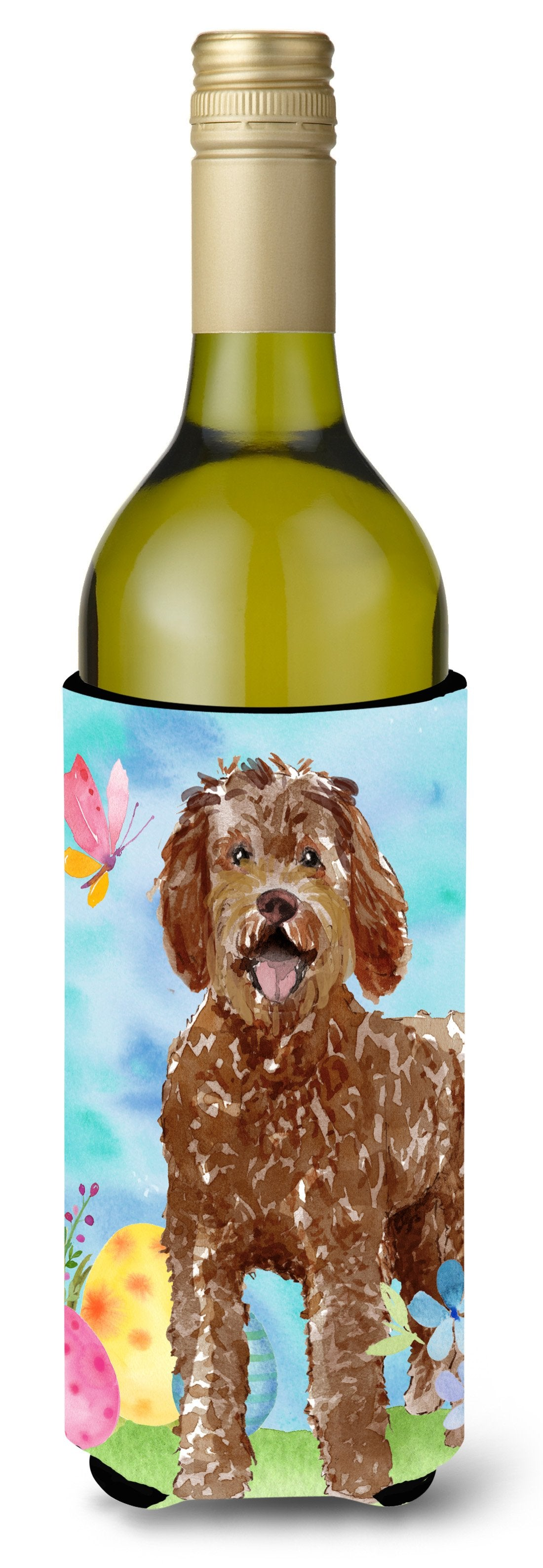 Buy this Easter Eggs Labradoodle Wine Bottle Beverge Insulator Hugger CK1911LITERK