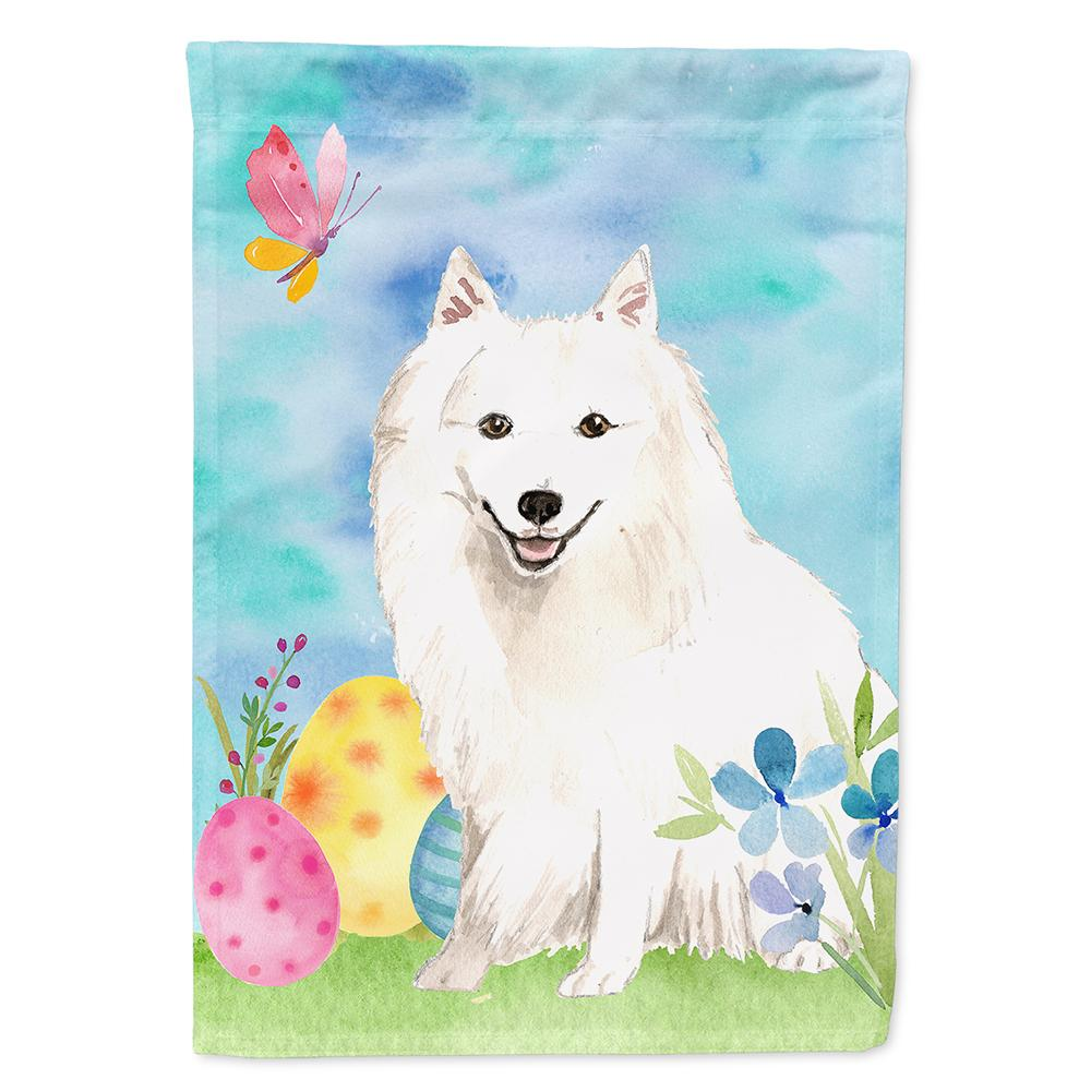 Easter Eggs Japanese Spitz Flag Garden Size CK1912GF by Caroline's Treasures