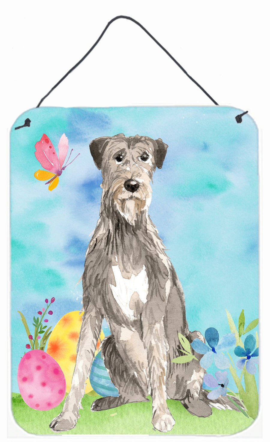 Buy this Easter Eggs Irish Wolfhound Wall or Door Hanging Prints CK1913DS1216