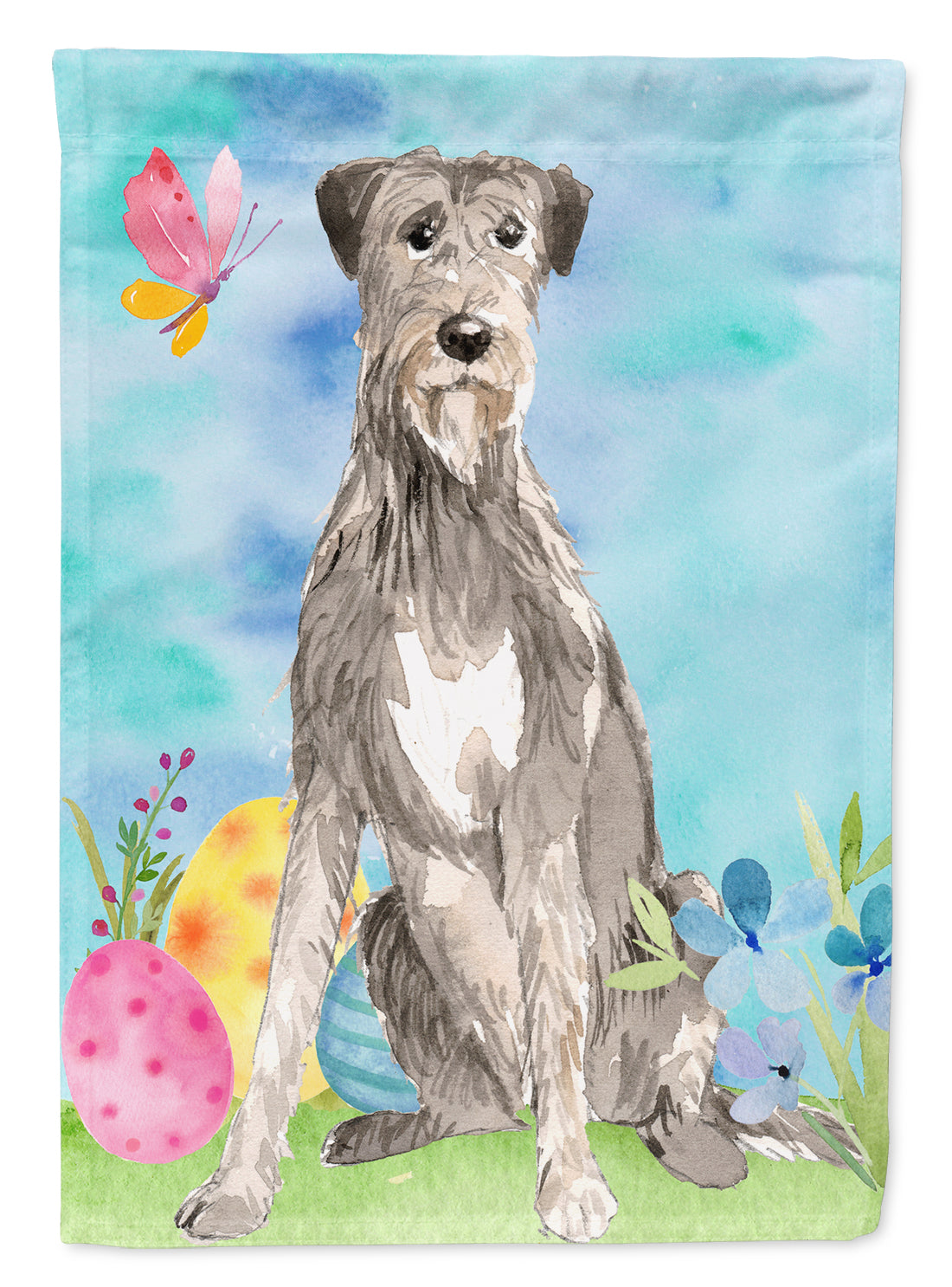 Buy this Easter Eggs Irish Wolfhound Flag Garden Size CK1913GF