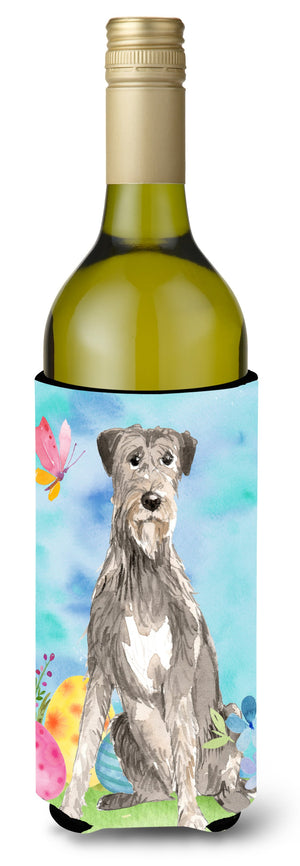 Buy this Easter Eggs Irish Wolfhound Wine Bottle Beverge Insulator Hugger CK1913LITERK