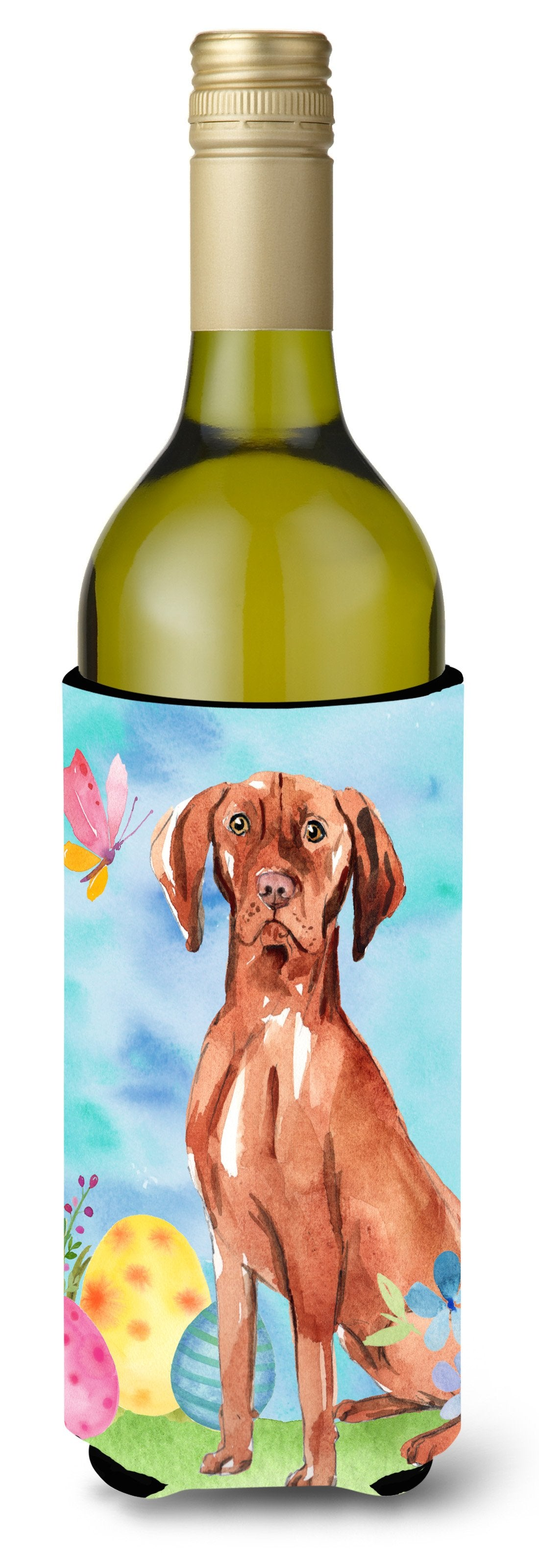 Buy this Easter Eggs Vizsla Wine Bottle Beverge Insulator Hugger CK1914LITERK