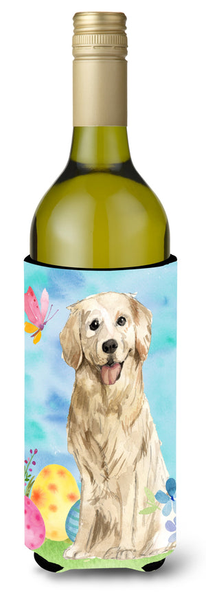 Buy this Easter Eggs Golden Retriever Wine Bottle Beverge Insulator Hugger CK1915LITERK