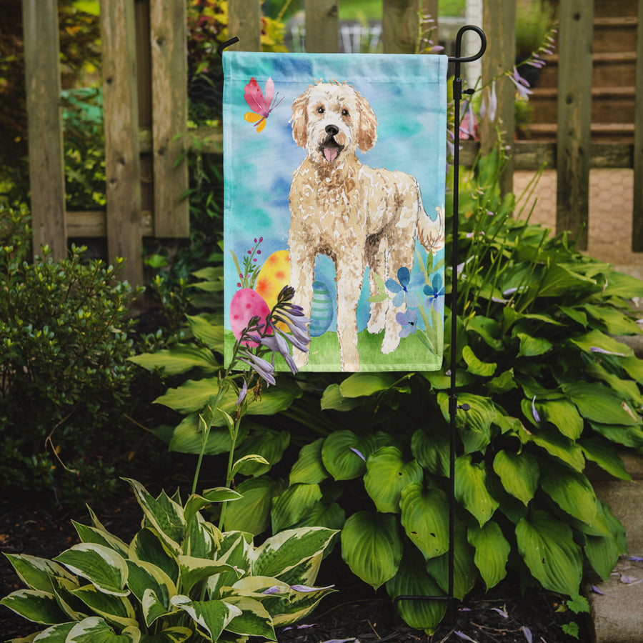 Buy this Easter Eggs Goldendoodle Flag Garden Size CK1916GF