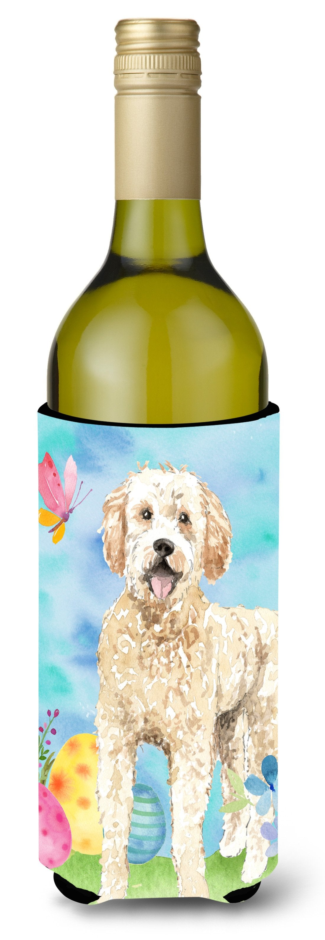Buy this Easter Eggs Goldendoodle Wine Bottle Beverge Insulator Hugger CK1916LITERK