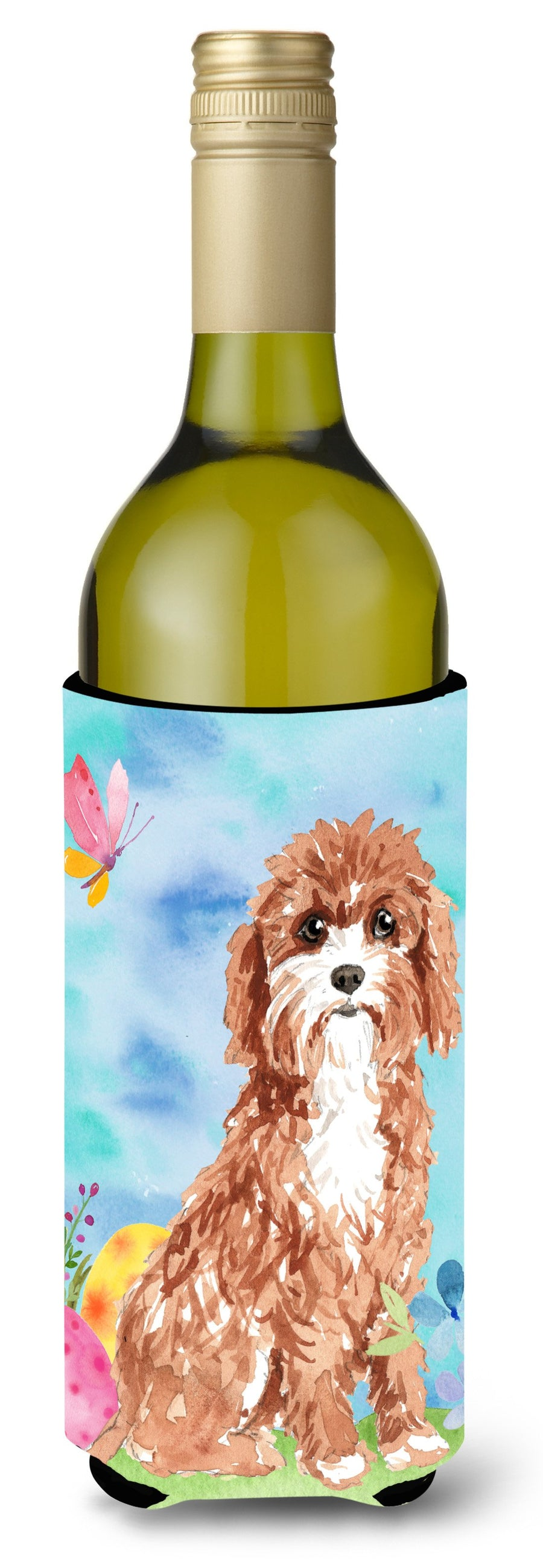 Buy this Easter Eggs Cavapoo Wine Bottle Beverge Insulator Hugger CK1918LITERK