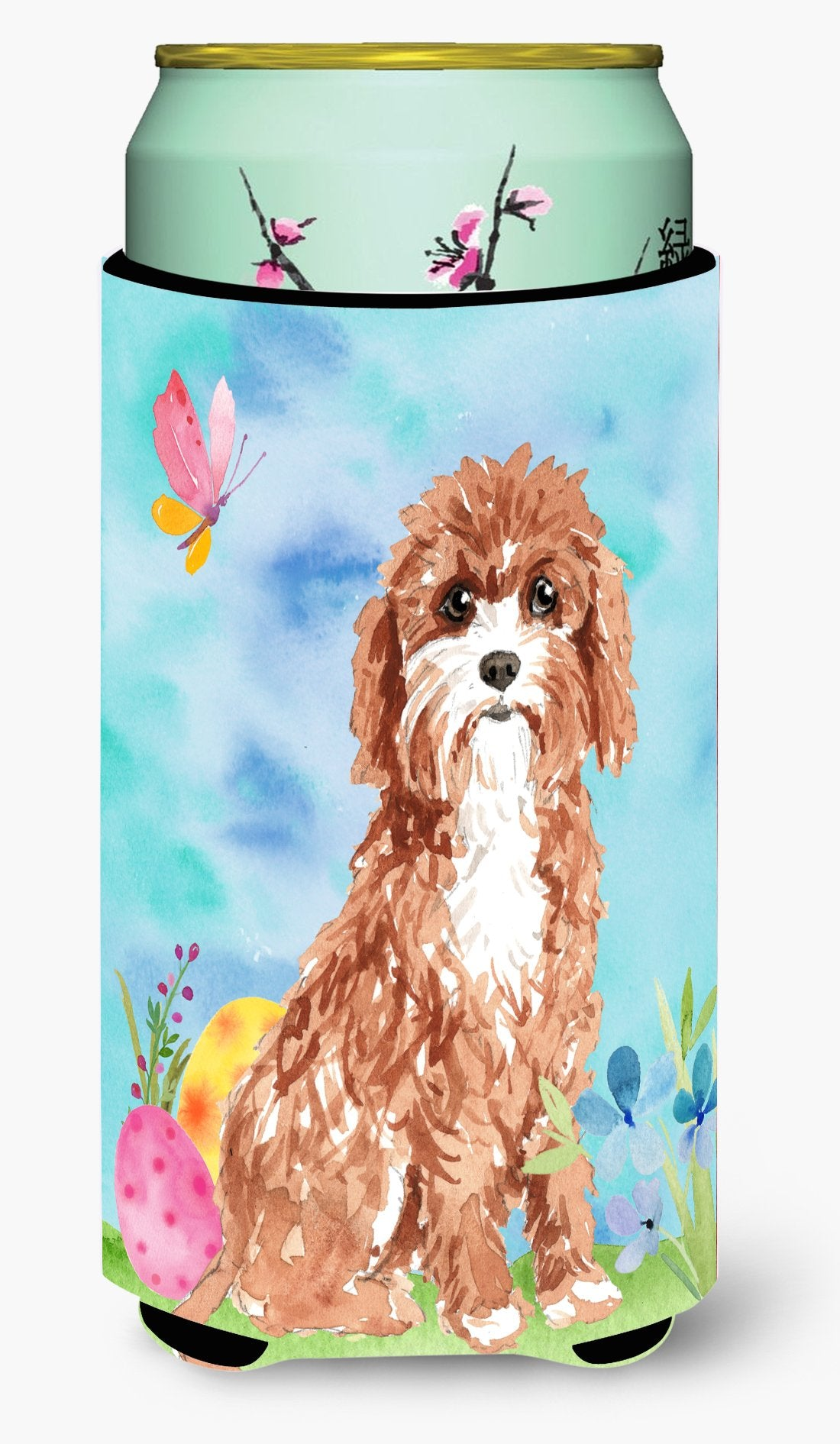 Easter Eggs Cavapoo Tall Boy Beverage Insulator Hugger CK1918TBC by Caroline's Treasures