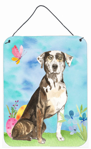Buy this Easter Eggs Catahoula Leopard Dog Wall or Door Hanging Prints CK1919DS1216