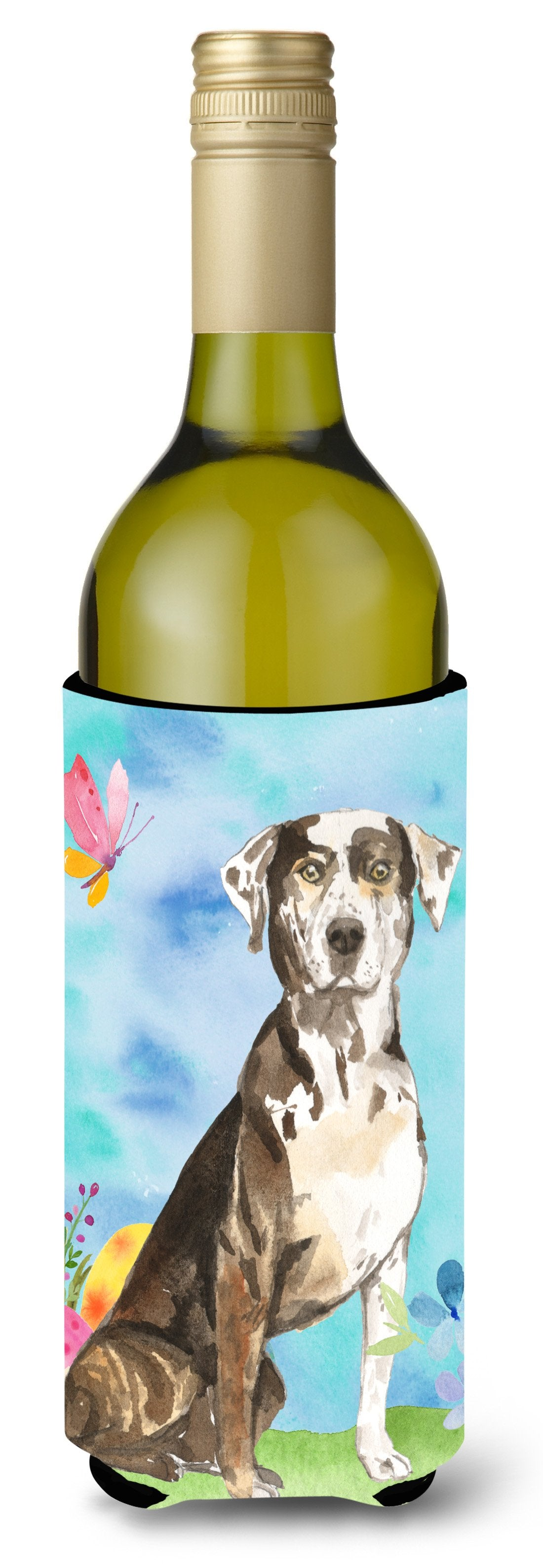 Buy this Easter Eggs Catahoula Leopard Dog Wine Bottle Beverge Insulator Hugger CK1919LITERK