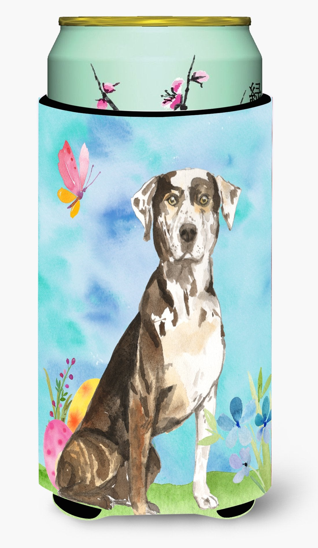 Easter Eggs Catahoula Leopard Dog Tall Boy Beverage Insulator Hugger CK1919TBC by Caroline's Treasures