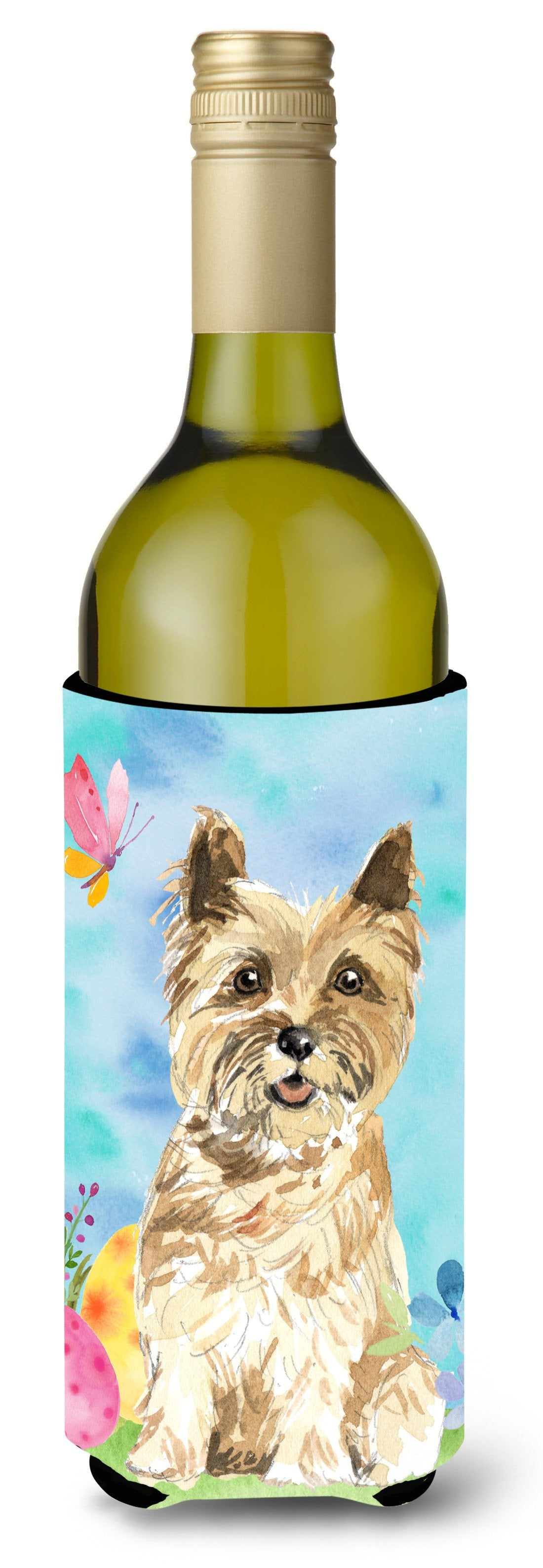 Buy this Easter Eggs Cairn Terrier Wine Bottle Beverge Insulator Hugger CK1920LITERK