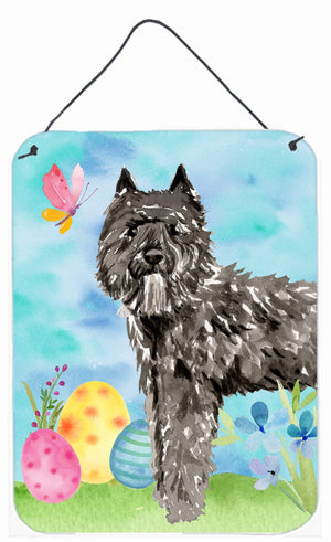 Buy this Easter Eggs Bouvier des Flandres Wall or Door Hanging Prints CK1922DS1216