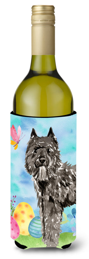 Buy this Easter Eggs Bouvier des Flandres Wine Bottle Beverge Insulator Hugger CK1922LITERK