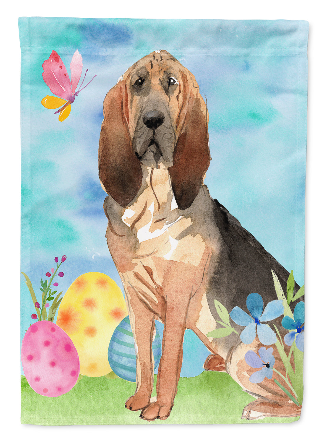 Buy this Easter Eggs Bloodhound Flag Garden Size CK1924GF