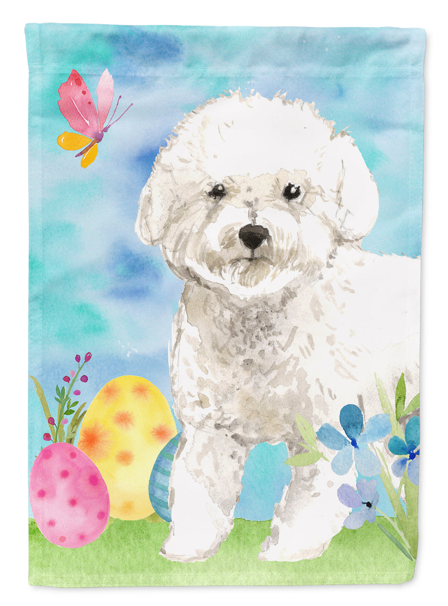 Buy this Easter Eggs Bichon Frise Flag Canvas House Size CK1925CHF