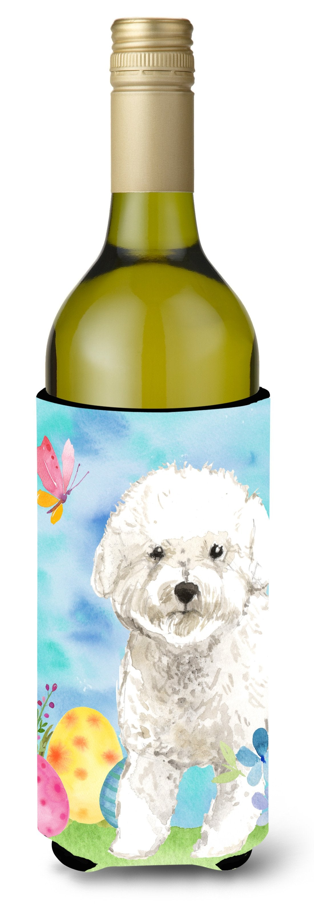 Buy this Easter Eggs Bichon Frise Wine Bottle Beverge Insulator Hugger CK1925LITERK