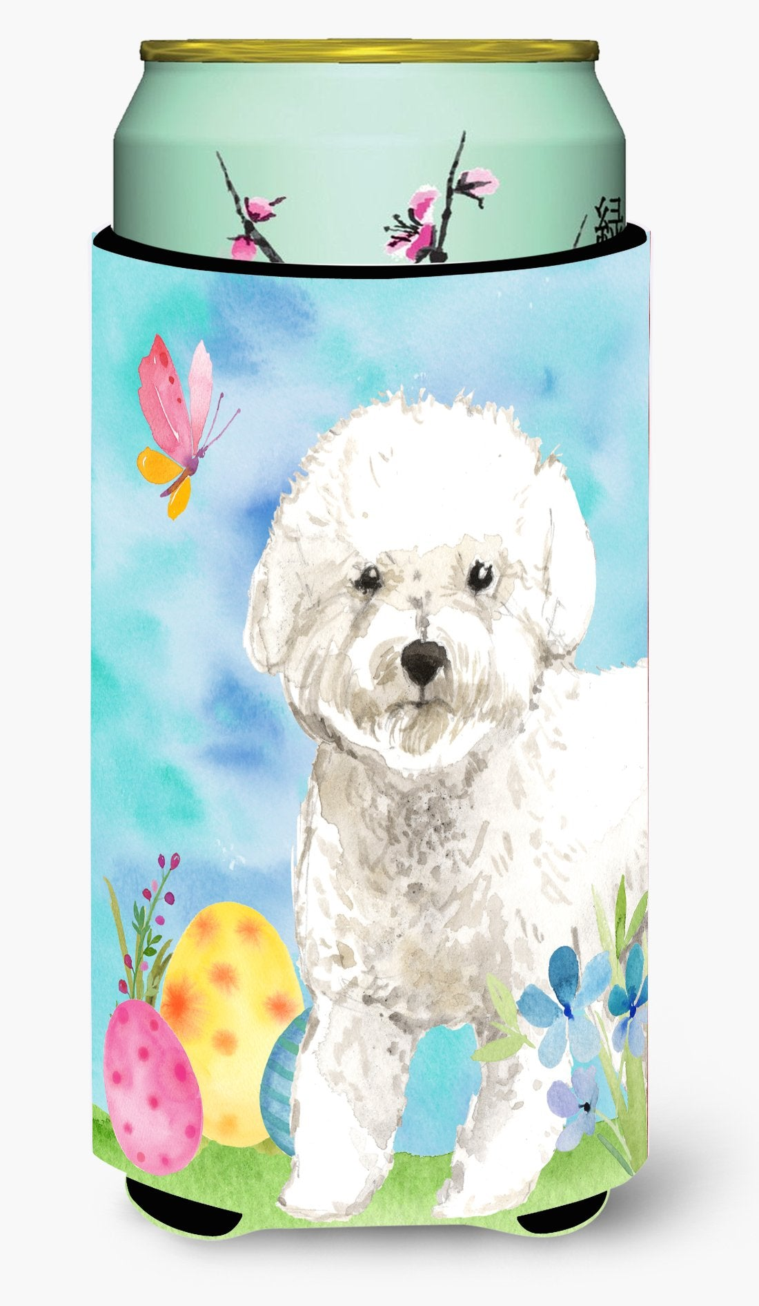 Easter Eggs Bichon Frise Tall Boy Beverage Insulator Hugger CK1925TBC by Caroline's Treasures
