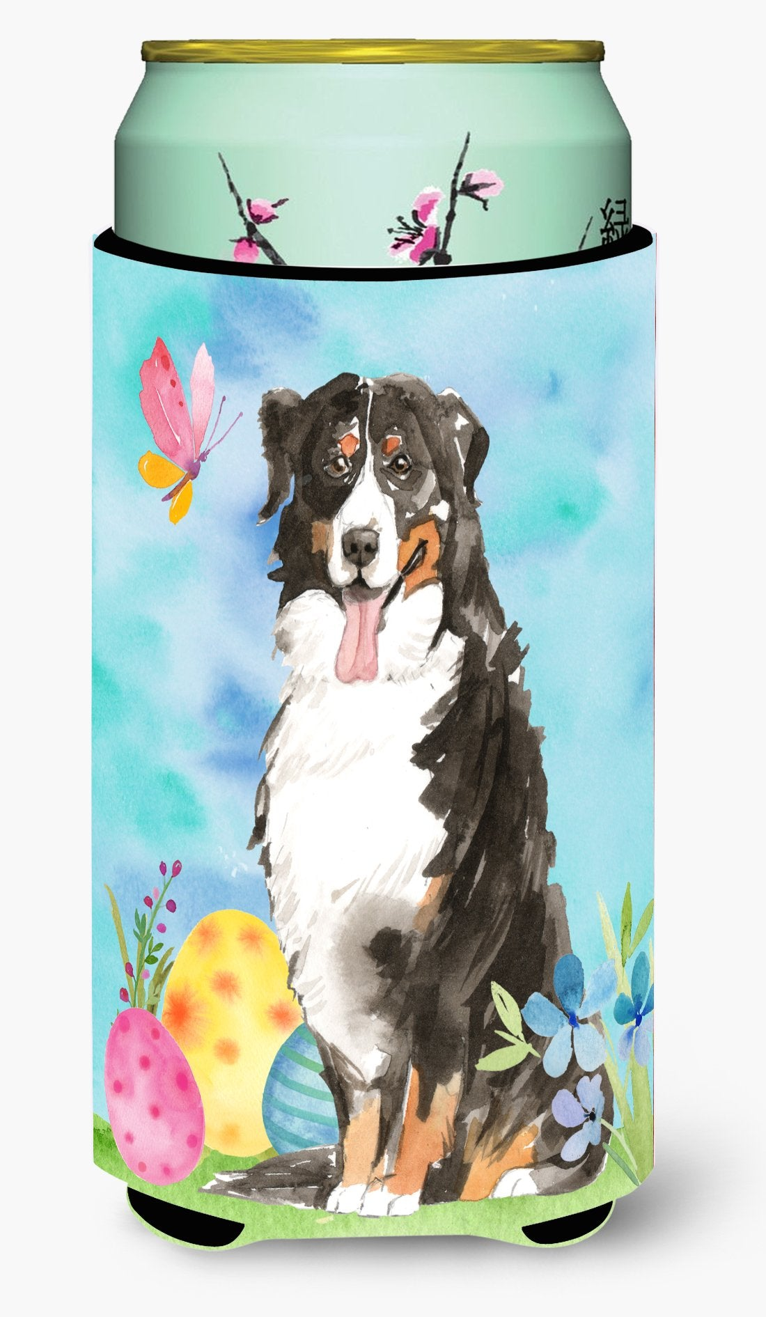 Easter Eggs Bernese Mountain Dog Tall Boy Beverage Insulator Hugger CK1926TBC by Caroline's Treasures